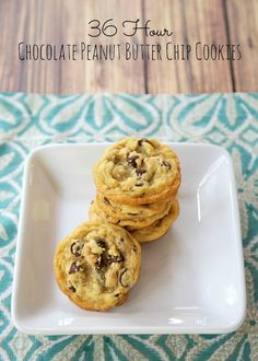 36-hour Chocolate Peanut Butter Chip Cookies - so good! I wanted to eat the entire batch!!