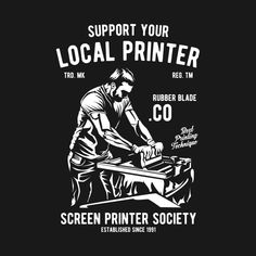 Check out this awesome 'Hipster+Printer' design on Screen Printer, Screen Printing Shirts, Design Kaos, Japanese Tattoo Art, Illustrator Cs6, Cool Notebooks, Print Logo, Logo Design Inspiration, Shirt Designs