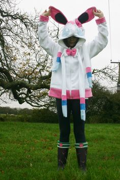 Sylveon Inspired Pokemon Hoody Custom Made by WeEmployZombies, £45.00