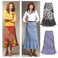 Kwik Sew Misses Patchy Skirts Pattern