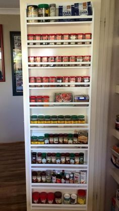 Pantry Door Spice Rack I Hate Digging For Spices So My