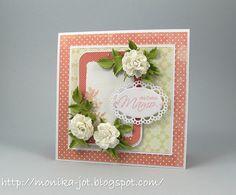 Na dzień matki Marianne Design, Card Making, Paper, Frame, Flowers, Cards, Inspiration, Card Ideas, Decor