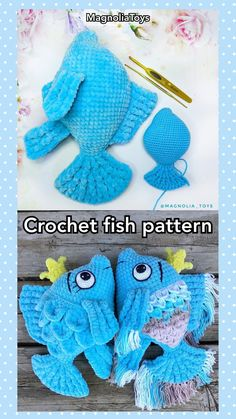 Crochet fish pattern, - New Ideas Crochet Pattern Free, Crochet Fish Patterns, Crochet Patterns Amigurumi, Crochet Dolls, Crochet Santa, Crochet Baby, Fisher, Handmade Toys, Handmade Ideas