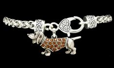 Bracelet | Dachshund with Amber-Colored Stones – The Smoothe Store