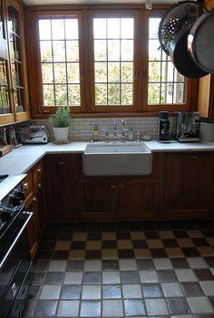 Marazzi montagna wood vintage chic 6 in x 24 in for 1920s kitchen floor
