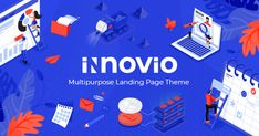 Buy Innovio - Multipurpose Landing Page Theme by Mikado-Themes on ThemeForest. We proudly present Innovio, an astounding multipurpose landing page theme built for various types of websites. Template Wordpress, Tema Wordpress, Wordpress Theme, Digital Marketing Websites, Seo Marketing, Types Of Websites, Learning Websites, Theme Forest, App Landing Page