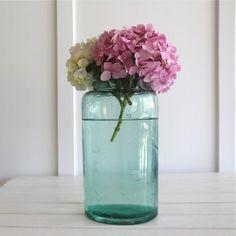 Large Antique Glass Pickling Jar - Bayside Vintage