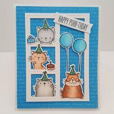 MFT Cool Cat; MFT Blueprints 27; adorable; birthday; kitten; fat cat; window scene