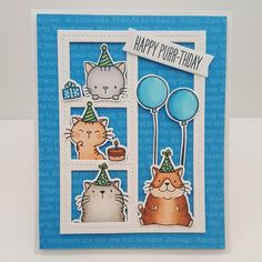 MFT Cool Cat; MFT Blueprints 27; adorable; birthday; kitten; fat cat; window scene