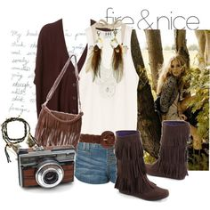 i like boots with shorts. and leather fringe.