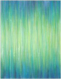 Ombre Aqua Bliss painting Art Print. Wanna try making this in another color scheme for our bathroom.