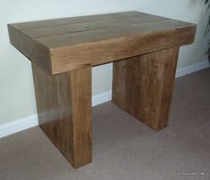 All of our bespoke rustic oak console tables are handmade to order from solid oak wood and finished in a choice of 4 colours. Oak Furniture Living Room, Decor, Oak, Table, Hall Console Table, Furniture, Beams, Oak Consoles, Living Room Furniture
