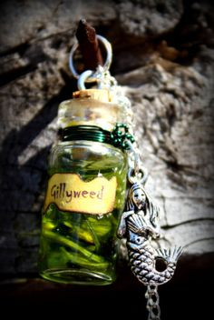 Harry Potter Potion Bottle Necklace Gillyweed