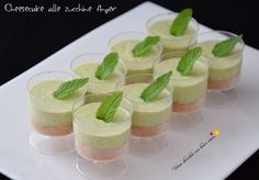 Cheesecake finger food zucchine e tuc No Salt Recipes, Gourmet Recipes, Dessert Recipes, Finger Food Desserts, Finger Foods, Best Hot Chocolate Recipes, Appetizer Buffet, Mousse, Food Humor