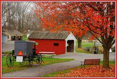Amish village...