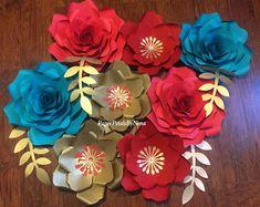 Elena of Avalor Paper Flowers, Elena of Avalor inspired flowers, paper flower set, paper flowers backdrop, elena of avalor