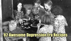 82 Awesome Depression Era Recipes, recipes, food from the great depression, frugal, frugal cooking, shtf, homesteading, free recipes,