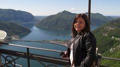 Do alto do Monte Salvatore em Lugano - Itália