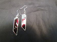 www.stainedglasscountryhouse.com  Beautiful Red glass earings!! all jewellery made with lead-free solder!!
