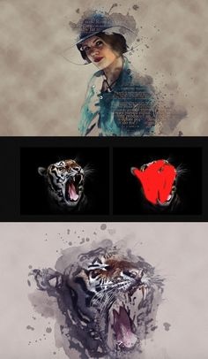 Creative Art #Photoshop #Action