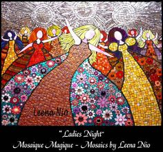 Leena Nio creates a wide array of intricate & detailed artwork in mosaics