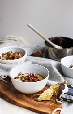 three ways with porridge for autumn.