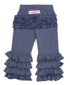 RuffleButts® Infant / Toddler Girls Faux Blue Denim Fancy Flare Pants - http://www.bestseller.ws/blog/clothing-shoes-jewelry/rufflebutts-infant-toddler-girls-faux-blue-denim-fancy-flare-pants/