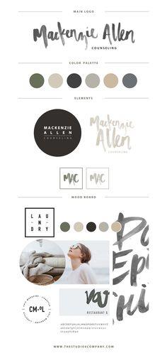 Branding for Mackenzie Allen / designed by Studio 9 Co.