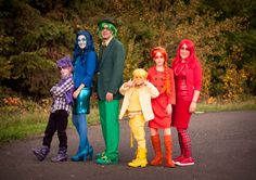Red, Orange, Yellow, Green, Blue, Violet !  Family Halloween Costume Idea for group of 6 costume