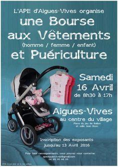 Bourse aux Vêtements (homme / femme / enfant) et Puériculture, Aigues-Vives (30670), Gard