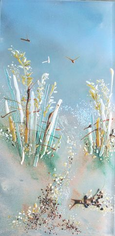 lovely glass frit painting