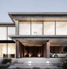 Big Windows, House Windows, Water Energy, Modern Mansion, Main Entrance, Main Door, House Stairs, Architect House, Modern Exterior
