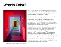 Independent Study: The Psychology of Color in an Interior Space