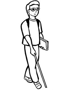 A Disabled Young Man Eager To Run Its Activities Coloring For Kids Jesus Coloring Pages, Coloring For Kids, Coloring Pages For Kids, Coloring Books, Doodle People, Three Blind Mice, Bible Story Crafts, English Worksheets For Kids, Deep Art