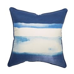 Shop Allen + Roth Waterblocks Blue Outdoor Throw Pillow At Loweu0027s Canada.  Find Our Selection