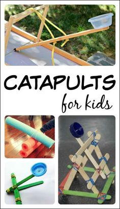 Check Out 14 Amazing Catapults for Kids A collect of catapults for kids to make and learn with! Children can design and create their own catapults. Playful learning activities with catapults! Stem Projects, Science Projects, Projects For Kids, Crafts For Kids, Engineering Projects, Summer Crafts, Preschool Science, Science Fair, Science For Kids
