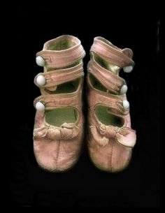 Pink Edwardian High-Top Button Baby Shoes