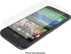 Zagg - InvisibleShield HD Screen Protector for HTC One (M9) Cell Phones - Clear