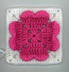 Crochet 4-Hearts Square Pattern
