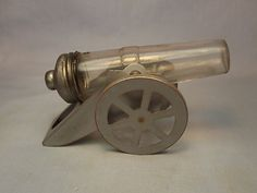 VINTAGE GLASS CANDY CONTAINER CANNON