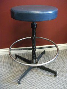 Vintage Lyon Metal Inc. Industrial Shop stool by EurekaVyntageMill ...