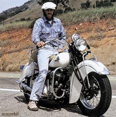En 1979, un año antes de morir, McQueen adquirió esta Indian Chief de 1941, igual que una de las primeras que había tenido treinta años atrás