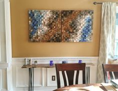 Large Wood wall Art wood mosaic geometric art large art
