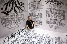 """History of the Nike """"Air Force 1″ honored in Live Calligraphy Performance by Pokras Lampas (15 Pictures) [:"""