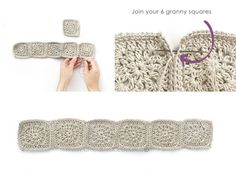 # how to do magic circle crochet Fabric and Granny Squares Dress – Pattern & Tutorial Baby Knitting Patterns, Baby Patterns, Crochet Patterns, Crochet Fabric, Crochet Granny, Double Crochet, Dress Patterns, Crochet Toddler, Crochet Girls
