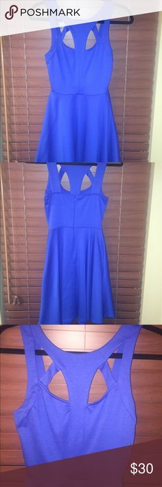 Royal Blue cutout cocktail dress Cutout cocktail dress, fit and flare, with zipper enclosure Lush Dresses Mini