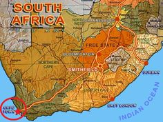 cape town in south africa map - (Important places)