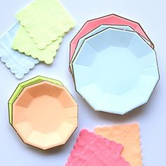 Neon Party Plates by Beau-coup