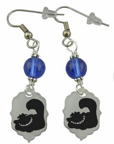 Unique Creations — Alice In Wonderland Inspired Earrings Cheshire Cat