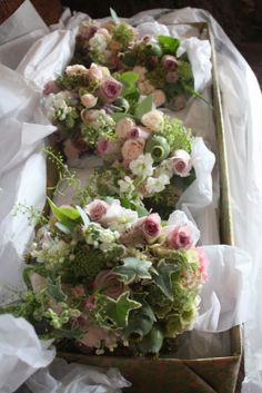 The Truly Bespoke Vintage Wedding Day of Camille:  faded vintage tones of Amnesia Roses with Poppy Seed Heads, Stocks, Dill and David Austin's English Garden Rose Keira seemed the perfect choice for her Bridal Bouquets